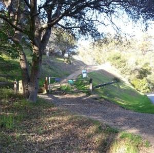 Entrance to Camino Alto Fire Road trail off Camino Alto